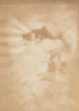 Befleckte alte Beschaffenheit des braunen Papiers Stockfotos