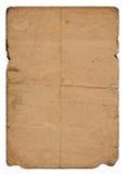 Befleckte Seite des alten Papiers Stockfotografie