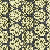 Beflecktes nahtloses Muster der traditionellen geometrischen Fliese Stockfoto