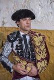 Befo totalement focalisé espagnol de moments de Miguel Abellan de toréador Image libre de droits