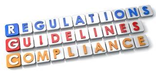 Befolgungs-Regelungen und Richtlinien lizenzfreie abbildung