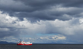 Befor storm at the Strait of Magellan Stock Image