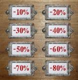 Befordran för metallhållarerabatt Arkivfoton