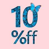 befordran för 10% rabattförsäljning Begreppet av den stilfulla affischen, baner, annonser Royaltyfri Fotografi