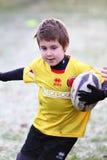befordrings- rugbyturneringungdom Fotografering för Bildbyråer