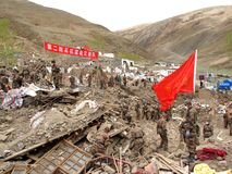 Befreiung-Armee der Leute arbeitet an Entlastung Stockfoto