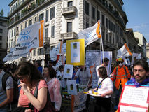 BEFREIUNG-TAGESpolitische PARADE. MAILAND, ITALIEN Lizenzfreies Stockbild