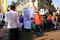 Befreiung-Tagespolitischer Protest. Mailand, Italien Stockfotografie