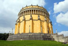 The Befreiungshalle (Hall of Liberation). Is an historical classical monument upon Mount Michelsberg above the city of Kelheim in Bavaria, Germany Stock Photo
