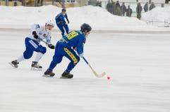 Befus Yanis(white) vs Anufriev Nikolay(blue) Royalty Free Stock Photo