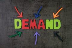Begäran, antal av en artikel eller ett tjänste- begrepp, multipel arkivfoton