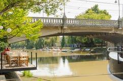 Bega River, Timisoara Stock Images