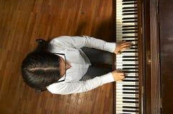 Begaafde Pianist bij piano-6 Stock Foto
