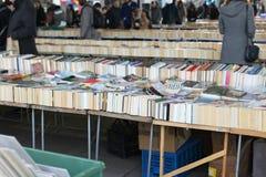 Begagnad bokförsäljning Royaltyfria Bilder