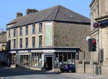Begagnad bokhandel, Carnforth, Lancashire Arkivbilder