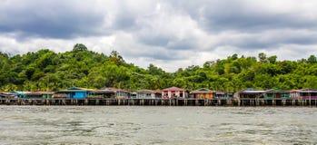 水村庄班达尔Begawan的Seri,文莱 图库摄影
