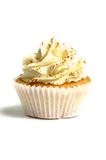 Bege creamed sweet cupcake Stock Photo
