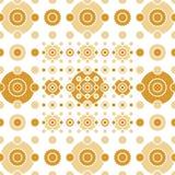 Bege e círculos e quadrados do ouro Imagens de Stock Royalty Free