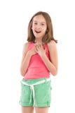 Begeistertes kleines Mädchen Lizenzfreies Stockfoto