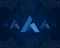 Begeisterung blockchain Art-Hintergrundsammlung Stockfoto