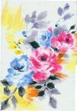 Begeisterung ist mutig und von den Blumen, die Blätter uneingeschränkt und blüht Kunstdesign stockfoto