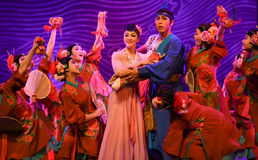 """Beget son-Dance drama """"The Dream of Maritime Silk Road"""". Dance drama """"The Dream of Maritime Silk Road"""" centers on the plot of two generations of a sailor Stock Photo"""