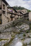 Beget town. Bridge over llierca river in Beget Stock Photography