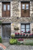 Beget village. Beatiful facade in beget village, catalonia Royalty Free Stock Photography