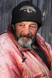 Beggar. Old Beggar from Romania having a melancholic look Stock Photography