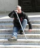 Disabled person beggar Royalty Free Stock Images