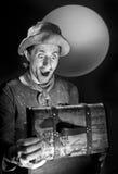 Beggar. A beggar found a treasure. Photoshoot in studio stock image