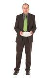 Beggar. Businessman begging for business/food Stock Photo