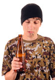Beggar with the Beer Stock Images