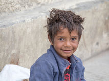 Beggar boy in Leh, India Stock Photography