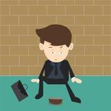 Beggar businessman Stock Photo