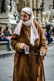 Beggar in Florence Stock Photo