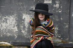 Beggar girl royalty free stock images