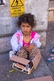 Beggar Girl Stock Images