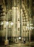 Beggar In Cologne At The Cathedral Stock Images
