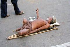 Beggar in india Royalty Free Stock Photos