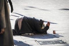 Beggar Lady Royalty Free Stock Photo