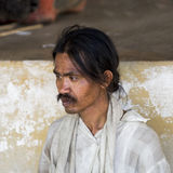 Beggar in Myanmar Royalty Free Stock Image