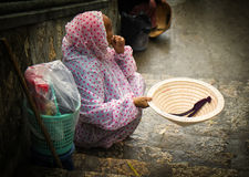 Beggar, Nha Trang, Vietnam Royalty Free Stock Photos