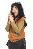 Beggar praying stock photography
