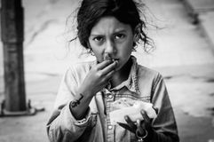 Beggar's Daughter Royalty Free Stock Photography