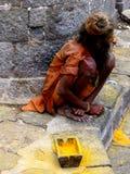 Beggar Sadhu Royalty Free Stock Image