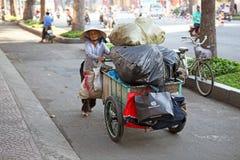 Beggar in Saigon Stock Photo