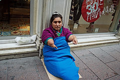 Beggar (1). Street photography: This is a begar and invalid Royalty Free Stock Photography