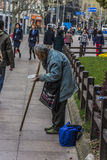 Beggar on the streets Royalty Free Stock Photos