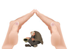 Beggar support poverty assistance Royalty Free Stock Photo